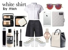 """WhiteShirt"" by michelledhrm ❤ liked on Polyvore"