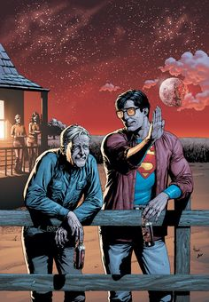 One of my favorite pictures of Clark Kent with his father Jonathan Kent.