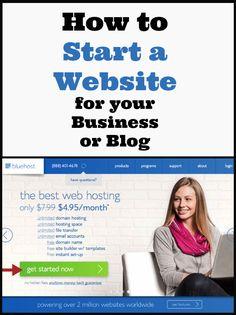How to start a website for your business or blog - Start a photography biz series KristenDuke.com