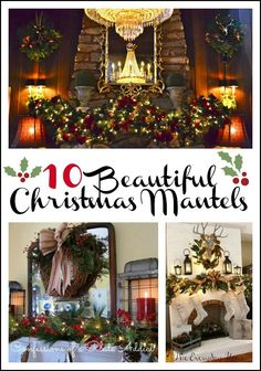 10 Beautiful Christmas Mantels