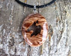 Fox pendant  Nature design | Made from local material | Unique and custom made design | Birch | Beautiful fox amulet | medieval style