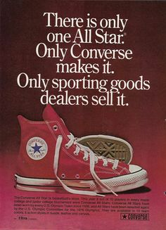 b4e8d03aae8 Converse sneakers old ads Chaussure Tennis