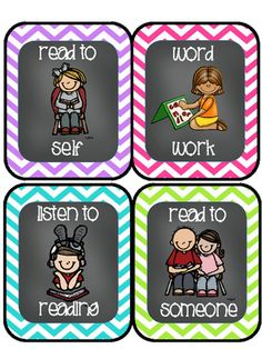 Editable Daily 5/Literacy Center Choice Cards FREEBIE