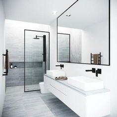 Vigo Meridian 33 - 73 Framed Fixed Glass Shower Screen in Matte Black - Badezimmer Amaturen Bathroom Styling, Bathroom Interior Design, Bathroom Storage, Bathroom Organization, Bathroom Cabinets, Bathroom Cleaning, Boho Bathroom, Industrial Bathroom, Modern Bathroom Design