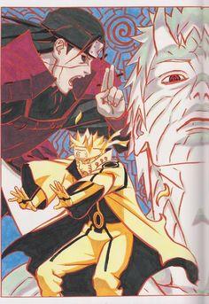 Naruto Obito e Hashirama Naruto Vs Sasuke, Anime Naruto, Manga Anime, Naruto Gaiden, Naruto Shippuden Anime, Naruto Art, Boruto, Manga Art, Naruto Wallpaper