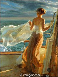 Vladimir Volegov Paintings Gallery | 460. GIRL OF MARTOSSA, painting, 102x77 cm, oil on canvas