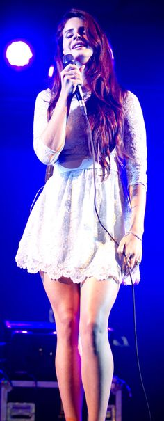 Lana Del Rey ~ Latitude Festival, July 2012. Pretty dress! Pretty girl!