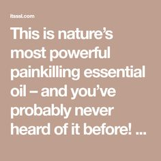 This is nature's most powerful painkilling essential oil – and you've probably never heard of it before! - Healthy Dent Cosmetic