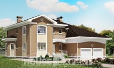 335-002-R Two Story House Plans with garage under, big Drawing House