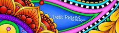 Debi Payne Designs On-Line Store.  Whimsical art in bold and bright colors.
