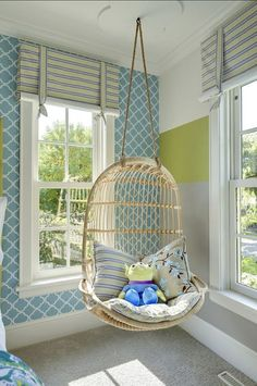 <Girl's Bedroom> Girl's Bedroom Girl's Bedroom  Claire would love a swing like this in her room: