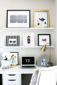 20+Chic+Ways+to+Organize+Your+Office+via+@mydomaine