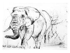 "Saatchi Art Artist David Rabie; Drawing, ""African Steps"" #art Original Artwork, Original Paintings, Wood Burning, Artwork Online, Saatchi Art, Artworks, Moose Art, Wildlife, Sketches"