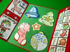 Christmas Holiday Lapbook - Celebrate the holiday season with this lapbook activity filled with adorable minibooks. This lapbook contains My Wish List minibook, Gifts for Others stocking, What I love about Christmas ornament wheel, If I Had a Reindeer mi