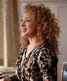 Alex Kingston. Absolutely gorgeous. And I've always wanted her hair.