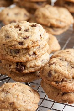 Nutty Chocolate Chip Cookies – there are lots of chocolate chips in here, but even more nuts. Two kinds of toasted nuts for lots of nutty flavour!