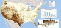 % of Hispanic or Latino by US County--2012