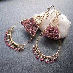 Beautiful wire wrapped earrings
