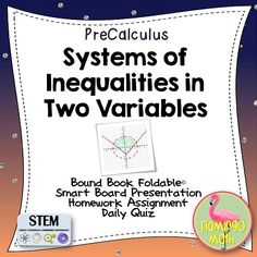 This lesson covers systems of inequalities in two variables and linear programming. Everything you need to teach a rigorous lesson.
