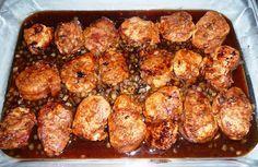 Filet de porc à l'érable : (oignons, moutarde sèche, sauce soya, ail, sirop d'érable). Je garde les filets entiers