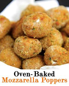 Oven-Baked Mozzarella Chicken Poppers