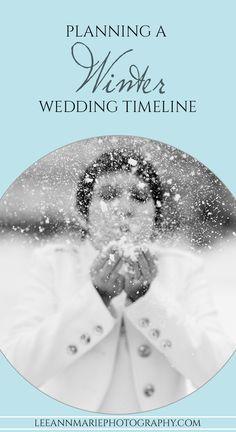 Planning a Winter Wedding Timeline - for brides