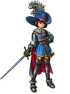 View an image titled 'Armamentalist Female Art' in our Dragon Quest IX: Sentinels of the Starry Skies art gallery featuring official character designs, concept art, and promo pictures.