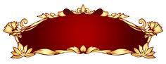 Transparent Red Deco Banner PNG Picture