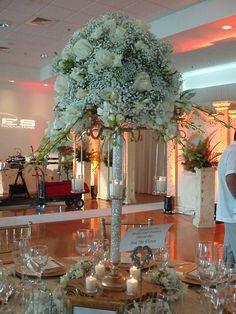 White roses centerpiece