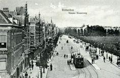 Gezicht op de Nieuwe Binnenweg. Rechts het Land van Hoboken. (datering: 1908, pbk 2002-167)