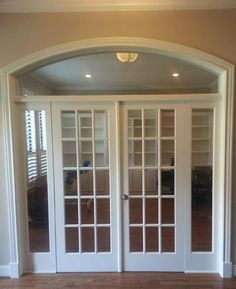 interior arched double french doors - Google Search & Enclosed archway and installed french doors to create a study ...