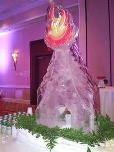 Ice sculpture. Fire and Ice theme