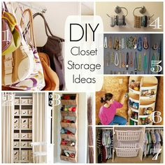 Get your closet into shape with these great DIY projects to organize everything!