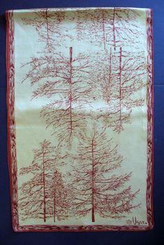 Vintage VERA NEUMANN tree scarf
