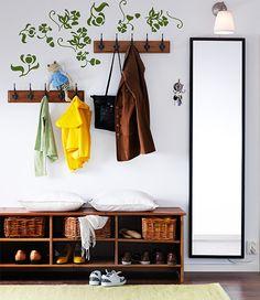 STAVE grote spiegel, verkrijgbaar in zwartbruin, wit en eikeneffect