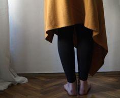 Wool Skirt Wrap Asymmetrical in Dark orange/brown by NervousWardrobe on Etsy