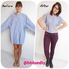 B. Blue: Transformando una camisa XXL