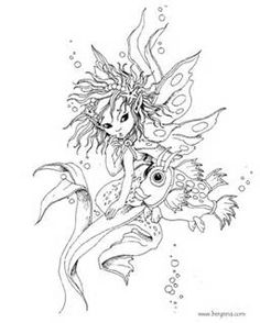 free fairy mermaid coloring pages by jody bergsma