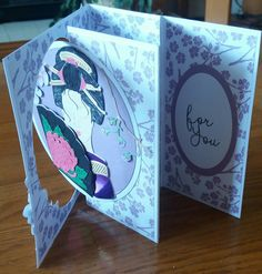 Found the fold for this card in the May edition of the Tattered Lace magazine. Very easy to do and I think quite effective.