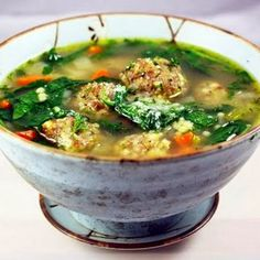 Ina Garten's Italian Wedding Soup - very good recipe, I cooked many times!