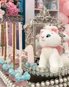 Aristocats Pretty Kitty Birthday Party - Birthday Party Ideas for Kids and Adults Hello Kitty Birthday, Cat Birthday, Birthday Gifts For Girls, Birthday Ideas, Birthday Cake, Pretty Cats, Pretty Kitty, Birthday Party Decorations, Birthday Parties