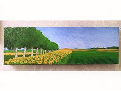 Field and Sunflowers / Acrylic painting on canvas / 24 by Gulchik, $300.00