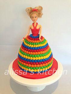 Dolly Varden M&M cake