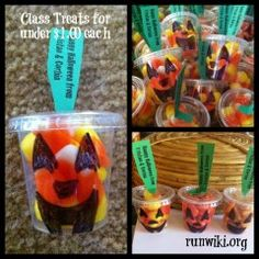 Cute and easy DIY Halloween treats for your kids to hand out at a party, school, family members, really anyone would love these!