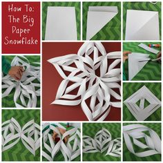 How To: The BIG Paper Snowflake-really simple and fun for kids to make and you'll already have everything you need to make it.   www.lets-get-together.com #kidscraft #snowflake #winter
