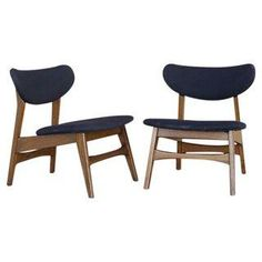 Mid-Century Modern Low Profile Chairs - a Pair