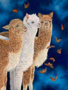 Midnight Ballet - Alpacas and Butterflies