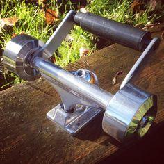 Mirror finish toilet roll holder. #skate #art #skateart #furniture #handmade #skateboarding