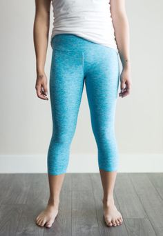 Lolli legging crops – heather turquoise (ships in 1 to 2 weeks)  $69.00    Perfect for downward dog or walking the dog, Buttercream's Lolli Leggings are a godsend! Made in Canada from a super soft cotton blend, Lolli Leggings are breathable and feature a flattering mid-rise 4.5' fabric waistband for added tummy control. The fabric lining makes them doubly comfy and they pair beautifully with the Tiramisu Tunic Top. There's a colour/pattern for every mood! Downward Dog, Colour Pattern, Comfortable Outfits, Tiramisu, Ships, Walking, Tunic Tops, Canada, Comfy