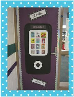 iRead...Do U?  door display.. Adapt to an iPod for music!